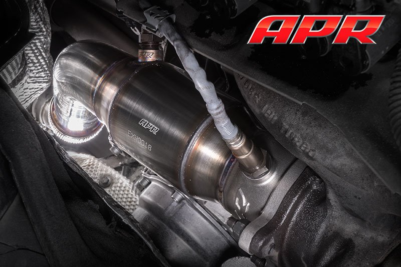 apr cast race dp exhaust system - a4/a5/q5 - b8/b8.5 - 1.8t/2.0t