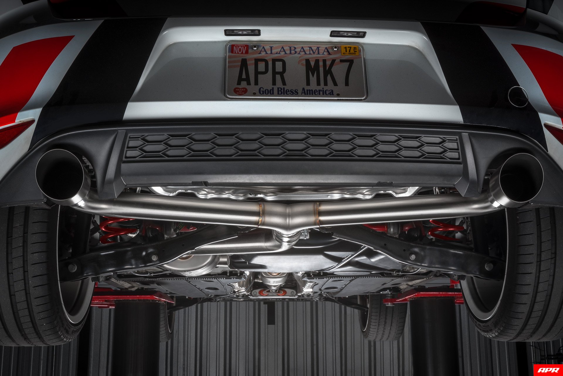Apr Exhaust Catback Mk Gti Installed Tips on Exhaust Pipe Components