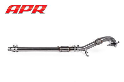 apr exhaust universal cast downpipe system assembled fwd 1 mid