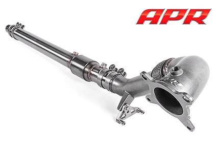 apr exhaust universal cast downpipe system assembled fwd 2 mid