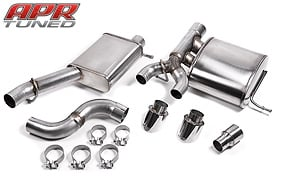"APR Golf R 3"" RSC Exhaust System, Cat Back"
